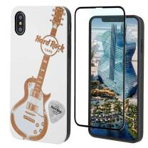 Hard Rock Guitar Wood Phone Case White Compatible with iPhone SE (2020), iPhone 8,7,6/6S by iProductsUS Includes Screen Protector, Protective Case, Compatible with Wireless Charging Cover (4.7 inches)