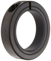 """Ruland TCL-12-10-F One-Piece Clamping Shaft Collar, Threaded, Black Oxide Steel.750""""-10 Bore, Manufactured and Shipped from Massachusetts (Pack of 2)"""