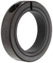 """Ruland TCL-22-12-F One-Piece Clamping Shaft Collar, Threaded, Black Oxide Steel, 1.375""""-12 Bore, 2 1/4"""" OD, 9/16"""" Width (Pack of 2)"""
