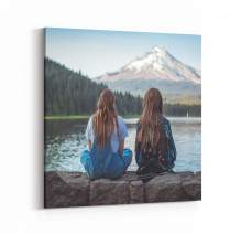 P&L ART. Canvas Prints with Your Photos, Personalized Canvas Wall Art Wedding Baby Dog Family Pictures Home Decor, Customized Gifts with Stretcher Bar 24x24