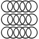 Key Rings Key Chain Metal Split Ring Bulk (Round Edged 1 Inch Diameter) 100pcs, for Home Car Keys Organization, Arts & Crafts, Lanyards, Lead Free Electroplated Black