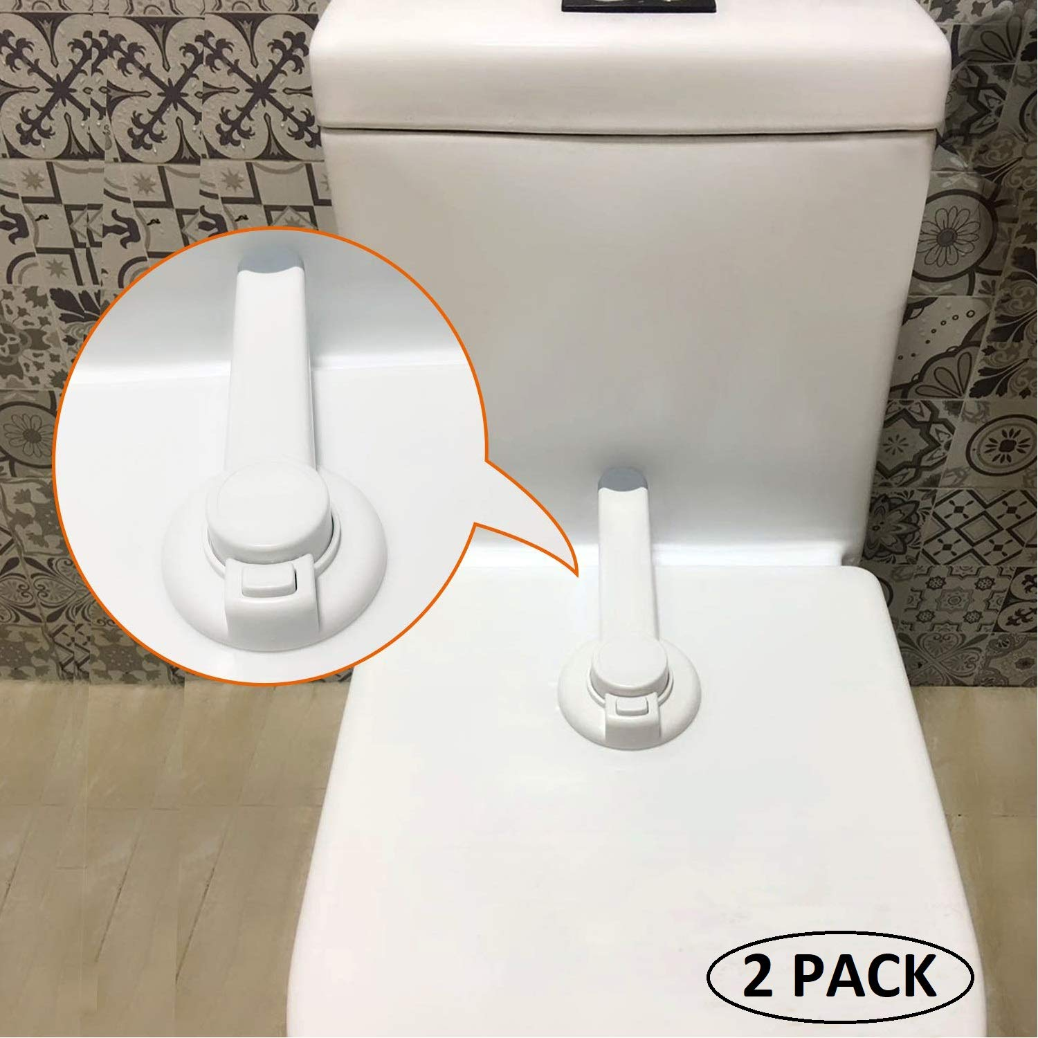 MILIVIXAY Baby Proof Toilet Seat Lock Ideal Toilet Locks Child Safety Toilet Seat Lid Lock for Baby Bathroom Safety Toilet Latch Fits Most Toilets