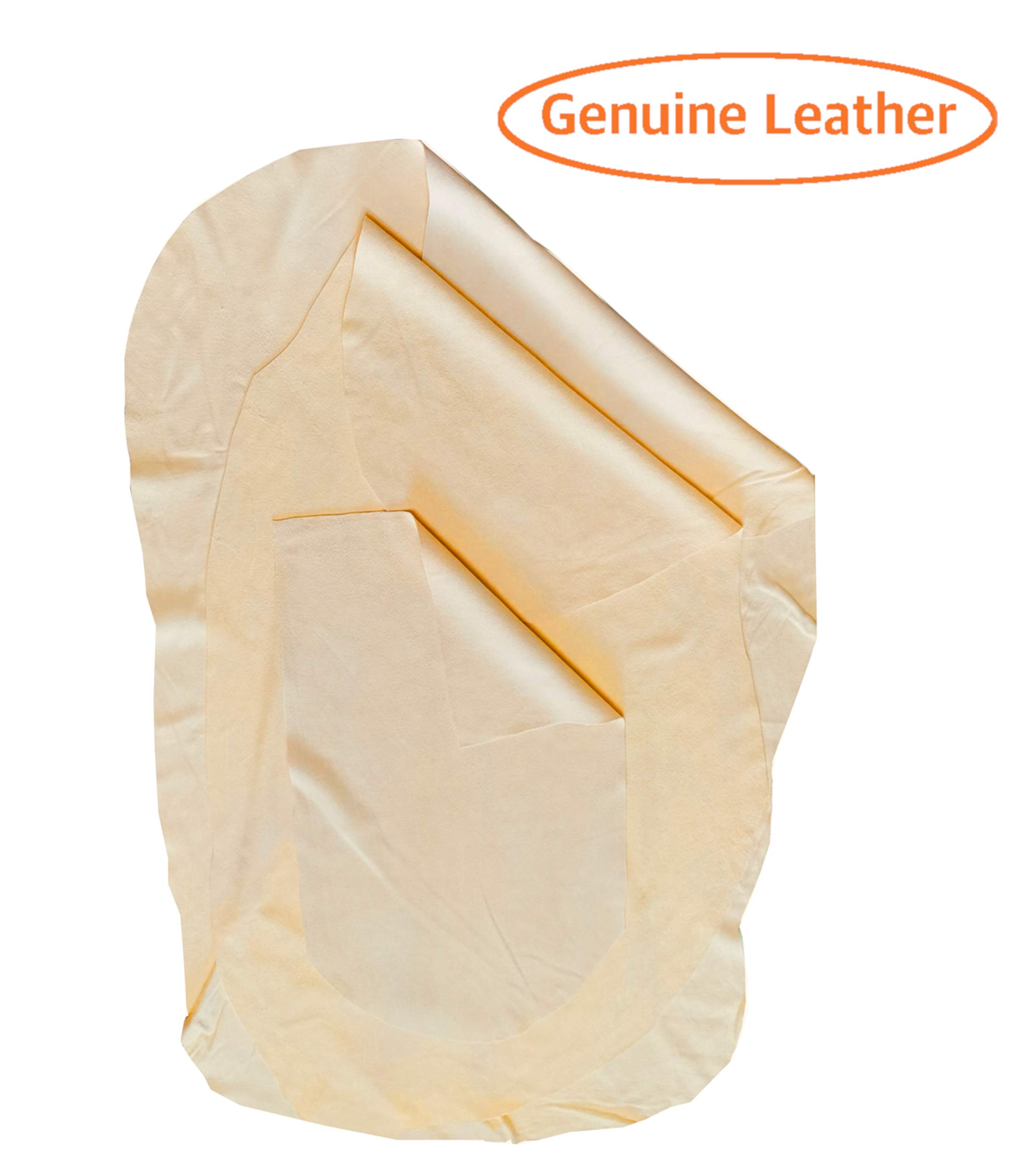 SHEEPSKIN ELITE Chamois Drying Cloth Car Drying Towel Real Leather Super Absorbent Fast Drying Natural Chamois Car Wash Cloth Accessory (3 Pieces: 3.5 sq ft; 2.5 sq ft; 1.25 sq ft)