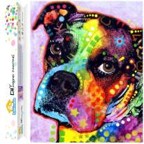 Dylan's Cabin DIY 5D Diamond Painting Kits for Adults,Full Drill Embroidery Paint with Diamond for Home Wall Decor(dog/12x16inch)