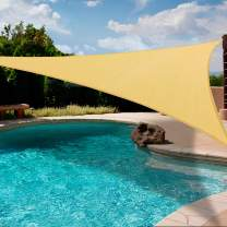 Artpuch 12' x 12' x 17' Triangle Sun Shade Sails Sand UV Block for Shelter Canopy Patio Garden Outdoor Facility Beach and Activities
