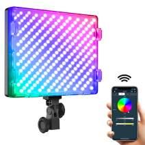 "GVM RGB LED Video Light,15"" Photography Lighting with APP Control,50w Led Panel Light for YouTube Studio,8 Kinds of The Scene Lights, 3200K-5600K, CRI 97(1 Packs)"