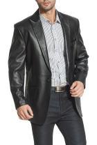BGSD Men's Judd 1-Button Lambskin Leather Blazer (Regular Big & Tall and Short)
