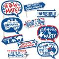 Big Dot of Happiness Funny Australia Day - G'Day Mate Aussie Party Photo Booth Props Kit - 10 Piece