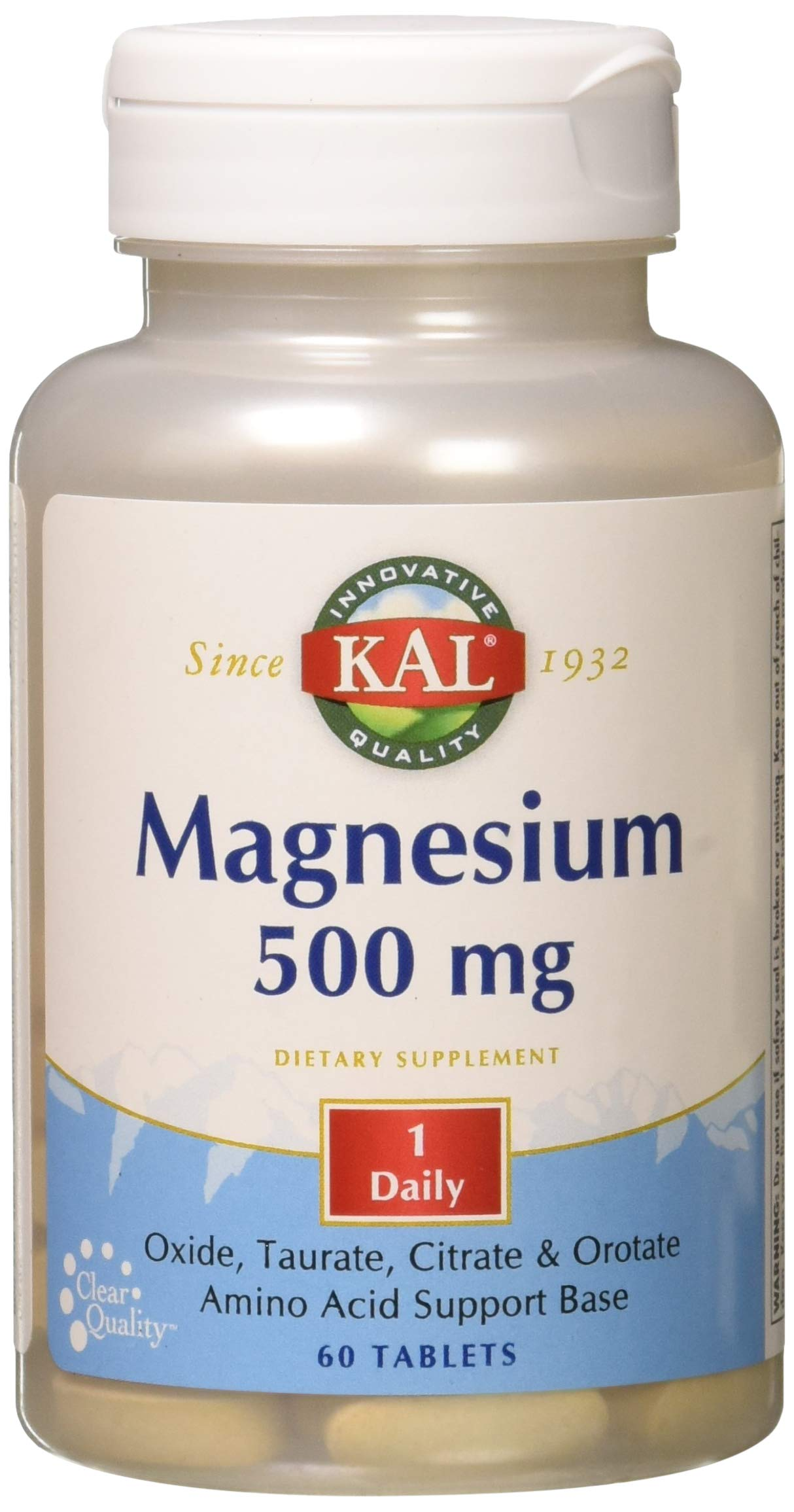 Kal 500 Mg Magnesium Tablets, 60 Count