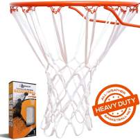 BETTERLINE Basketball Net Replacement - Heavy Duty Indoor and Outdoor All Weather Anti Whip Thick Nets Fit Standard 12-Loop Hoop Rims