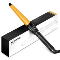 Curling Wand SUPRENT Hair Curling Wand with Heat Resistance Glove, 3/4-1 1/2 inch Hair Curling Iron with Ceramic Coating (270℉-430℉)