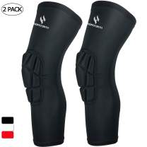 HOPEFORTH Knee Padded 2 Pack Compression Leg Sleeve Thigh Guard Sports Protective Gear Brace Support for Football Basketball Volleyball Softball Tennis Youth Kids Adult