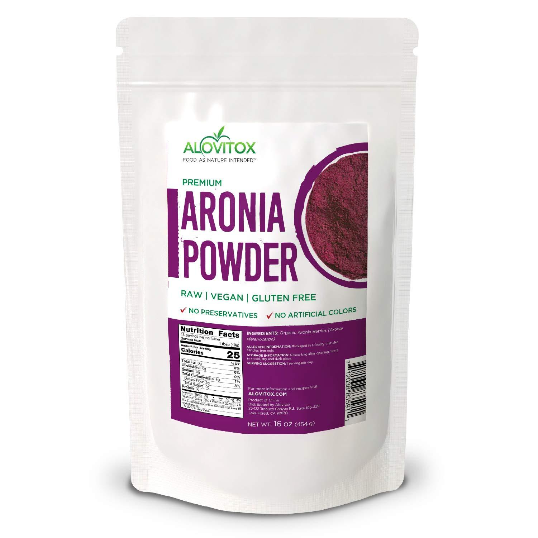 Aronia Juice Powder   Antioxidant Dense Superfood Naturally Containing Dietary Fiber, Vitamins A, K, C, and E, Calcium and Iron   RAW, Non-GMO, Gluten Free, Water Soluble RAW Aronia Juice Powder