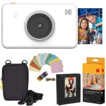 Kodak Mini Shot Instant Camera (White) Deluxe Bundle + Paper (20 Sheets) + Deluxe Case + Photo Album + Hanging Frames