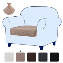 subrtex Spandex Elastic Couch Slipcover Slip Embrossed Loveseat Stretch Chair Cushion Covers Furniture Protector for Settee Sofa Seat LivingRoom,Small, Sand Crane Paper