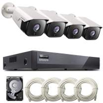 [Audio] ONWOTE 8CH 5MP PoE Home Security Camera System, 8CH 5MP H.265 NVR 2TB HDD for 24/7 Recording, (4) Wired Outdoor 5MP Ethernet IP Surveillance Cameras, 100ft IR, Wide Angle