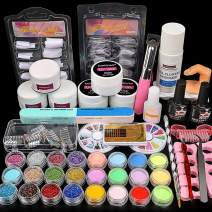 Acrylic Powder Nail Kit Shiny Glitter Nail Art Decoration Acrylic Nail Tools Set