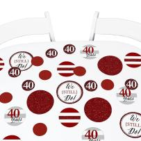 Big Dot of Happiness We Still Do - 40th Wedding Anniversary Giant Circle Confetti - Anniversary Party Decorations - Large Confetti 27 Count