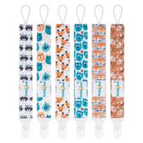 Babygoal Pacifier Clips, 6 Pack Pacifier Holder for Boys and Girls Fits Most Pacifier Styles &Teething Toys and Baby Shower Gift 6PS18