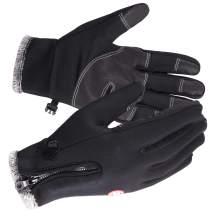 REDCAMP Touchscreen Winter Gloves Windproof, Fleece Lining Screen Glove for Cycling Running…