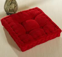 ChezMax Soft Corduroy Cotton EPE Cotton Filled Chair Cushion Thickened Tatami Solid Color Pad for Home Office Dinning Chair Indoor Outdoor Seat Chair Pad Red 16 X 16 inch