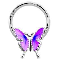Jewseen Hinged Segment Ring 16g Septum Clicker Daith Earring Helix Tragus Earrings Cartilage Hoop Body Piercing Jewelry