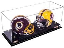 Better Display Cases 2 Mini Helmet or Mini Football with Mini Helmet (not Full Size) Display Case with Risers