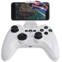 Wireless Gaming Gamepad, Megadream MFi iOS Game Controller Joystick Compatible with iPhone Xs XR X 8 8Plus 7 7Plus 6S 5S 5, iPad, iPad Mini 4, iPad Pro, Apple TV, iPod Touch & Drone White