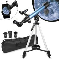 BNISE AstronomyTelescopes for Adults Beginners Kids 199X Magnification with Phone Mount Case and 3X Barlow Lens