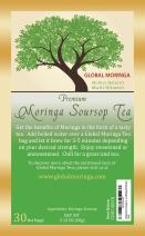 Global Moringa - Revitalizing Organic Moringa Tea with SourSop Leaf (30 Tea Bags) Ghana Grown, American Seller