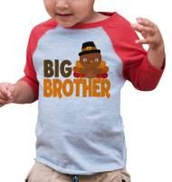 7 ate 9 Apparel Baby Boy's Big Brother Thanksgiving Red Raglan