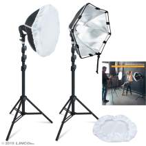 LINCO Softbox Lighting Kit Professional Continuous Photo Studio Light Equipment Adjustable Light-Emitting Area Portrait Shoot AM242