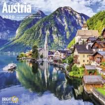 2020 Austria Wall Calendar by Bright Day, 16 Month 12 x 12 Inch, European Travel Destination