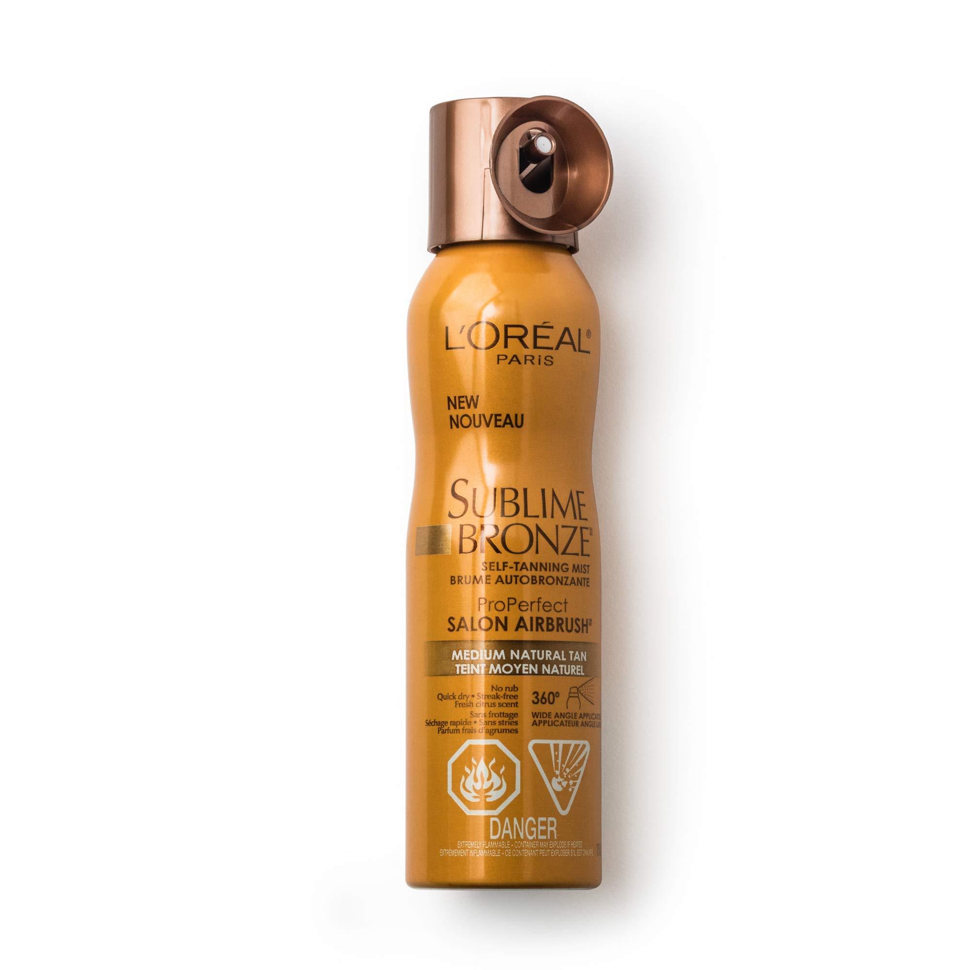 L'Oreal Paris Sublime Bronze Self Tanning Mist, 4.6 oz.