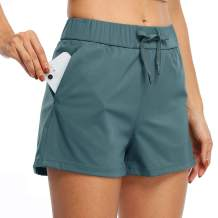 """Willit Women's Yoga Lounge Shorts Hiking Active Running Workout Shorts Comfy Travel Casual Shorts with Pockets 2.5"""""""