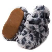 KIDSUN Infant Baby Boy Girl Cozy Fleece Bootie Newborn Stay On Slipper Winter Warm Gripper Non-Slip Crib Shoe