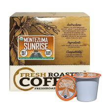 Fresh Roasted Coffee LLC, Organic Montezuma Sunrise Coffee Pods, Medium Roast, Artisan Blend, USDA Organic, Capsules Compatible with 1.0 & 2.0 Single-Serve Brewers, 18 Count