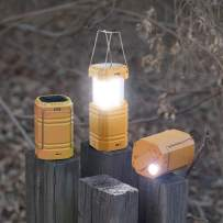 Rechargeable LED Camping Lantern, Solar Hand Crank Flashlight for Emergency, Portable Bright Survival Lantern with Long Play Time, 3000mAh Power Bank with USB Charger for Power Outage,Outdoors/Indoors
