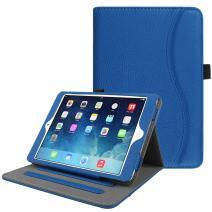 Fintie Case for iPad Mini/Mini 2 / Mini 3 [Corner Protection] - [Multi-Angle Viewing] Folio Smart Stand Protective Cover w/Pocket, Auto Sleep/Wake for Apple iPad Mini 1 / Mini 2 / Mini 3, Royal Blue