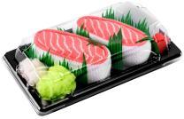 Rainbow Socks - Men's Women's - Sushi Socks Box Salmon - 1 Pair