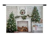 Kate10x6.5ft Christmas Backdrops for Photoshoot Christmas Kitchen Photo Backdrops Red Xmas Decoration Photography Props
