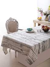 Rustic Wood Pattern Printed Table cloth of Size 60x102 Inch, 100% Cotton Rectangular Table Cloth, Perfect for Dinner Parties, BBQs and Everyday Use