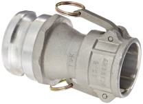 "Dixon 2030-DA-AL Aluminum Cam and Groove Reducing Hose Fitting, 2"" Socket x 3"" Plug"