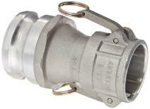 "Dixon 2030-DA-AL Aluminum Cam and Groove Reducing Hose Fitting, 2"" Socket x 3"" Plug"