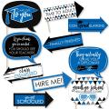 Big Dot of Happiness Funny Blue Grad - Best is Yet to Come - Royal Blue Graduation Party Photo Booth Props Kit - 10 Piece