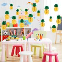 PARLAIM 16 Pack Pineapple Honeycomb Centerpieces Tissue Paper Pom Poms Pineapple 6 Inch Party Supplies Table Hanging Decoration Hawaiian Luau Party Birthday Wedding Home Party Decorations