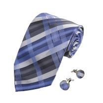 Y&G Men's Fashion Checkers Necktie with Presents Box Mens Silk Tie Cufflinks 2PT