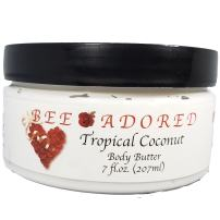Bee Adored Body Butter, Tropical Coconut, 7 Fluid Ounce