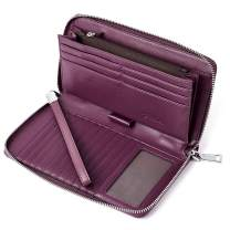 BOSTANTEN Leather Wallets for Women RFID Blocking Zip Around Credit Card Holder Phone Clutch