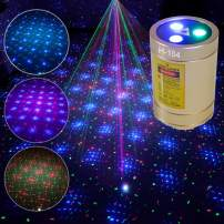 Mini Laser Lights, Chims RGB Stars Laser Show DJ Party Home Disco Light Portable Cordless Rechargeable Music Activated Stage Laser Light for Christmas Holiday Home Party Disco Birthday Xmas Gift